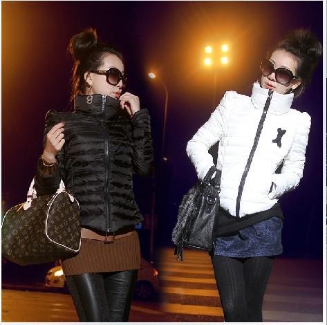 HOT SALE---  new Korean version high collar short paragraph female Slim Down cotton padded jacket female Down Jacket