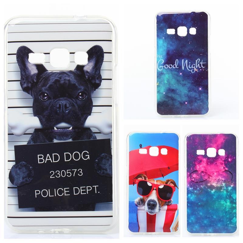 "Fashion Bad dog cute Cartoon Soft TPU Case For Samsung Galaxy J1(2016) 4.5"" J120F J120 Rubber silicone Skin Back Cover(China (Mainland))"