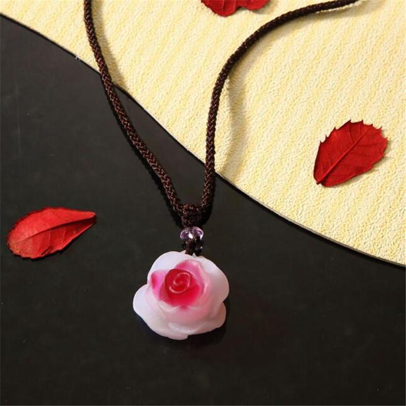 FuHai Interior Accessories Ornaments Delicate and beautiful Car Pendant glass Rose Pendant fashion SC284(China (Mainland))