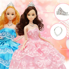 Retail, factory outlets,Wedding dress fashion Princess dolls, wedding suits, girls toys, birthday gifts 12 joint dolls(China (Mainland))