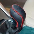 2014 Vauxhall Opel Astra J Car Gear Shift Collars Hand stitched Leather Gear Shift Knob Handbrake