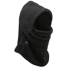 Durable 6 in 1 Adults Thermal Fleece Balaclava Hood Police Swat Winter Ski Face Mask Fast Shipping(China (Mainland))