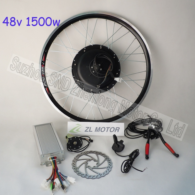 Powerful electric bike diy kit 1500w 48V brushless dc rear motor and 1800w controller with bike pedal sensor G-S004(China (Mainland))