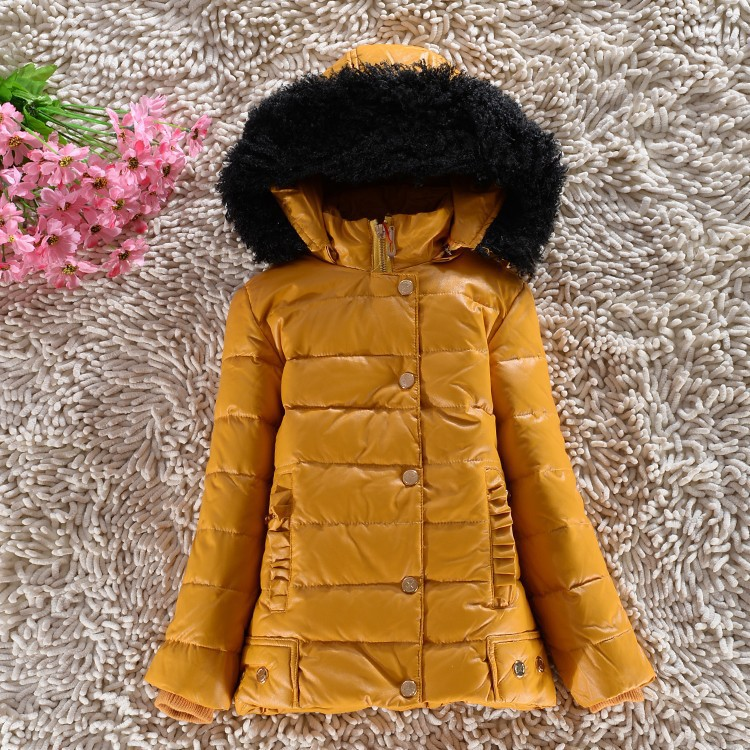 Apparel New arrival 2015 children's clothing children's down jacket and long sections baby girls thick winter Slim Down 6 colors(China (Mainland))