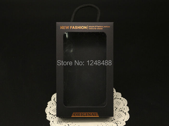 175*105*22mm Black kraft Paper Box For iPhone 6 Plus S5 S6 Mobile Phone Case Box Hanging Gift Packaging Boxes DHL Free Shipping(China (Mainland))