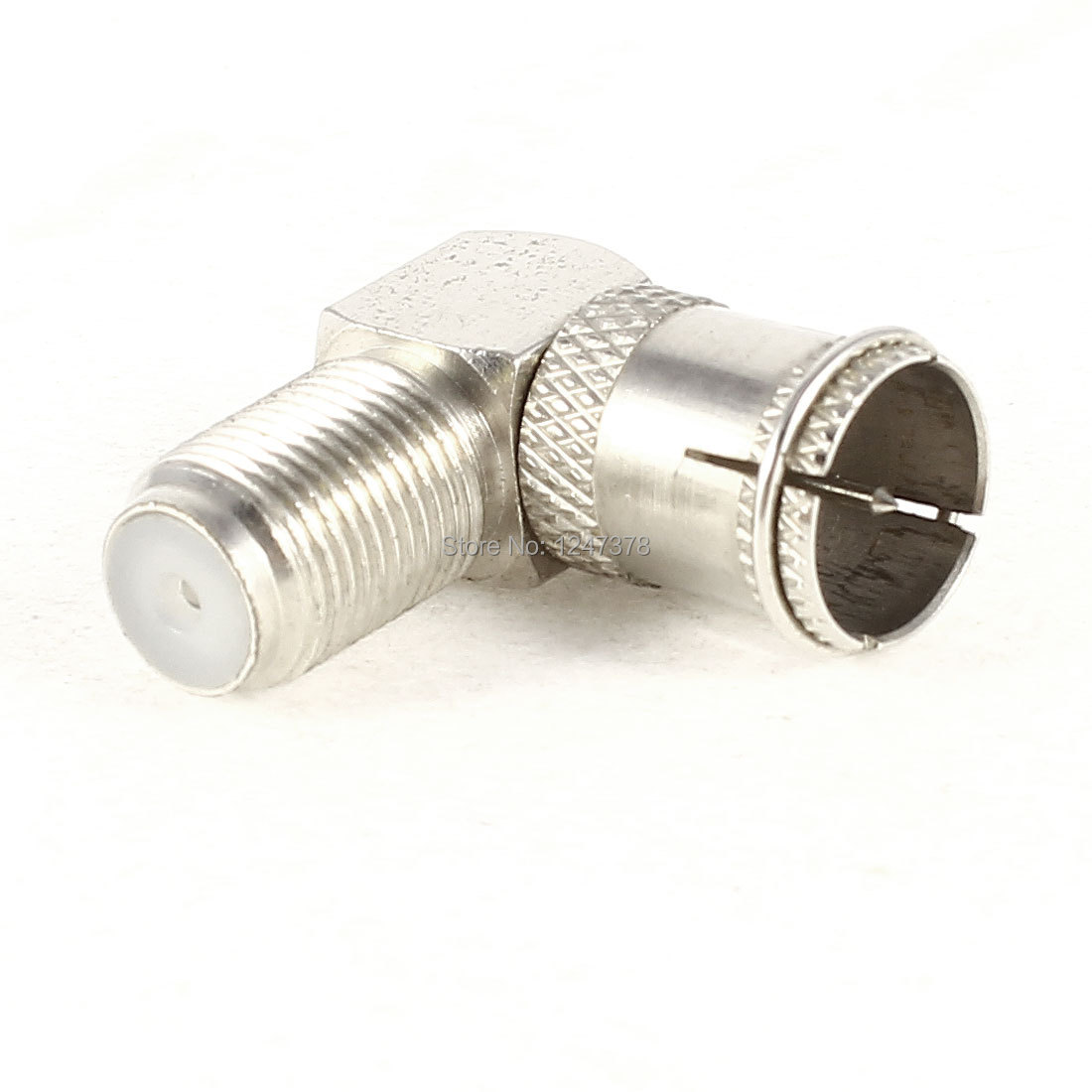 90 Degree F Type Female to Male 9mm Plug Quick TV RF Coaxial Connector Adapter Discount 50 Network(China (Mainland))