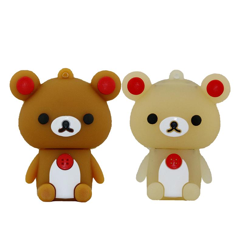 free shipping cute bear usb pen drive 32gb usb2.0 usb flash drive 64gb flash memory pendriver pen stick u disk usb flashdriver(China (Mainland))