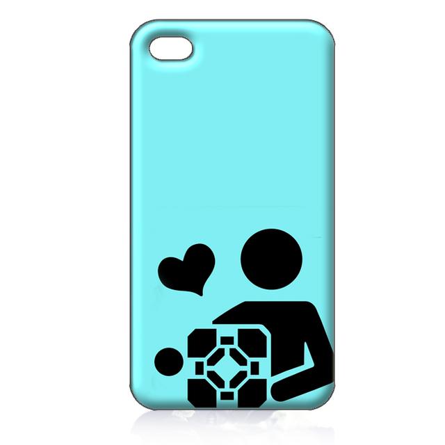 For iPhone 4 4S iphone 5 case portal companion cube ILC1683 Soft TPU phone cover Wholesale Retail