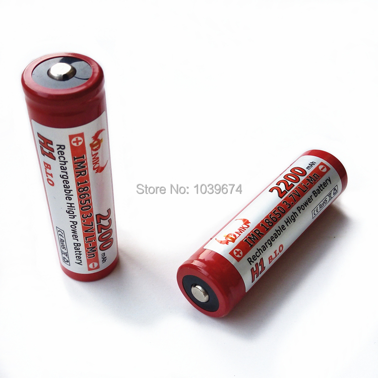 High Power JCM IMR 18650 2200mAh 3.7V lithium ion Rechargeable Battery Cell for E-cigarette Batteries Free Shipping<br><br>Aliexpress