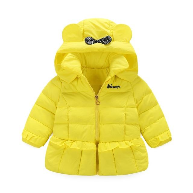 Factory Outlet!!! 2016 осень и зима последние дети пуховик девушки Воланами капюшоном пуховик дети зимой носить