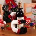 Hot Sale Christmas Snowman Wine Hold Towels Hold Bottles Covers Gift Santa Claus Christmas Decoration