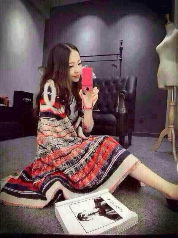2015 Winter Brand Designer Women Scarf Double Light Style Chiffon Scarves(China (Mainland))
