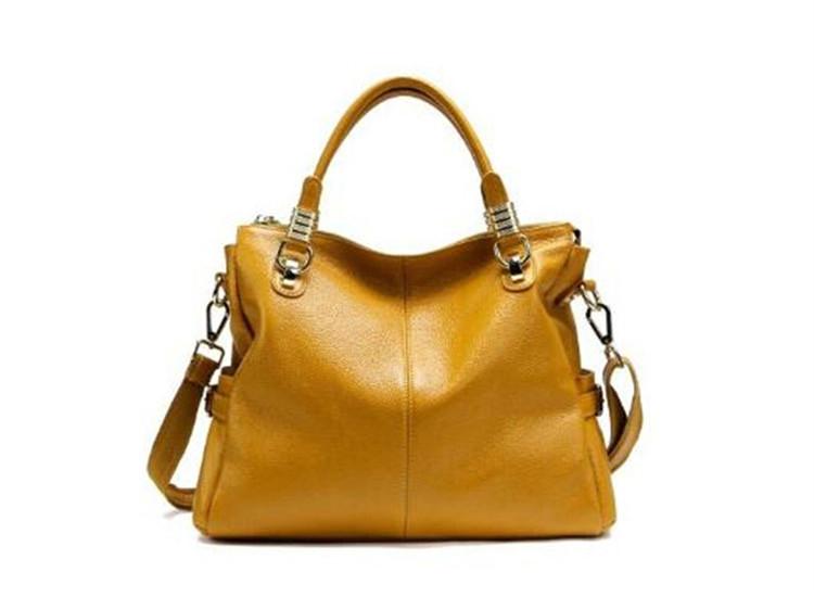 2015 Women Genuine Leather Handbag New Fashion Women Handbag Shoulder Bag Women Messenger Bags Cowhide Leather Bags Tote Bolsas