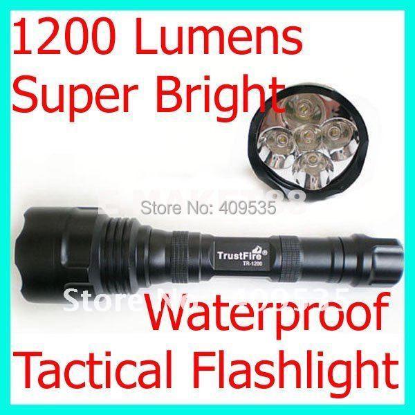 Free shipping, TrustFire LED TR 1200 Lumen Torch 5*Q5 Flashlight 5 Mode Q5<br><br>Aliexpress