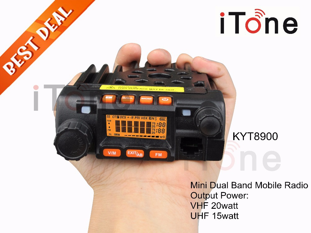 KT8900 Dual Band Mobile Radio VHF UHF Mini Transceiver QYT 25W Car Radio Mini Mobile Radio KT8900(China (Mainland))