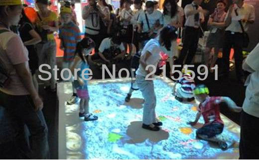 Supply Interactive Floor projection system including 40 different effects for event, wedding, advertising free shipping