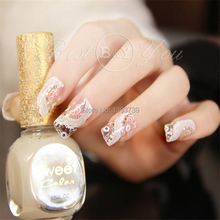Hot 1x nail sticker white exquisite Beautiful Pattern distinctive breathable  Nail Art MJ-XFJU079