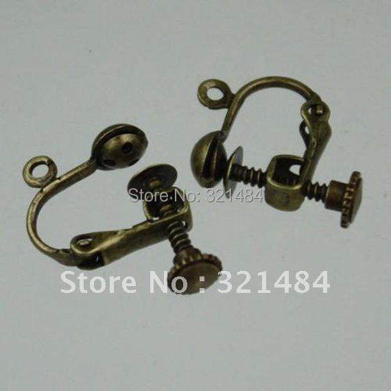 Здесь можно купить   ship! 16mm 200PCS Antique bronze Ear Earring Clip Jewelry Findings Accessories  Ювелирные изделия и часы