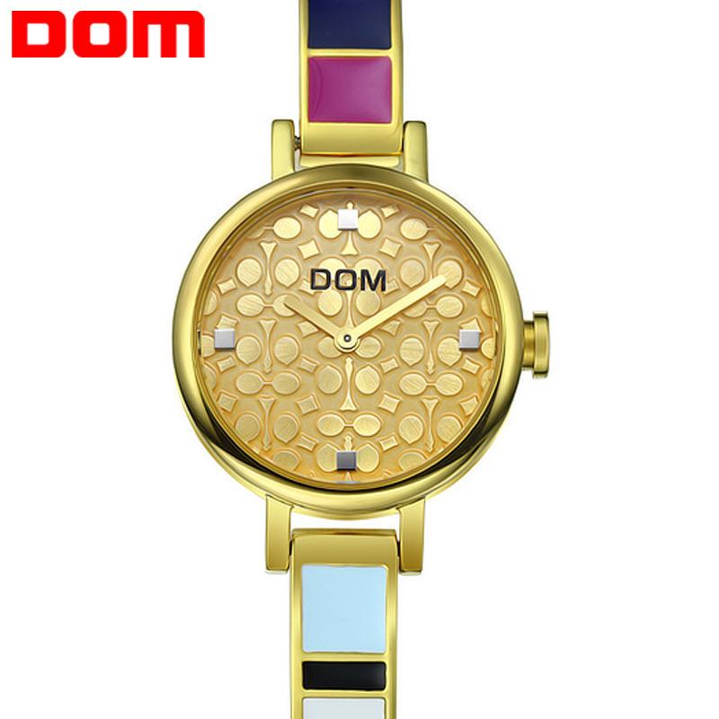 2015 The latest version fashion watch Dom quartz watches women luxury brand casual wristwatch women stainless steel watch