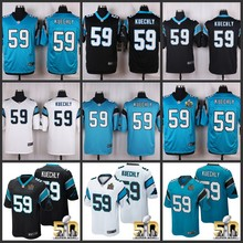ABC50 anniversary 100% Elite Women youth kids men Carolina Panthers AAA quality 59 Luke Kuechly(China (Mainland))