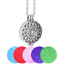 Buy 1pc Vintage Aromatherapy Necklace Perfume Aroma Locket Pendant Essential Oil Diffuser Flower Necklace 28' Chain Pads for $1.38 in AliExpress store