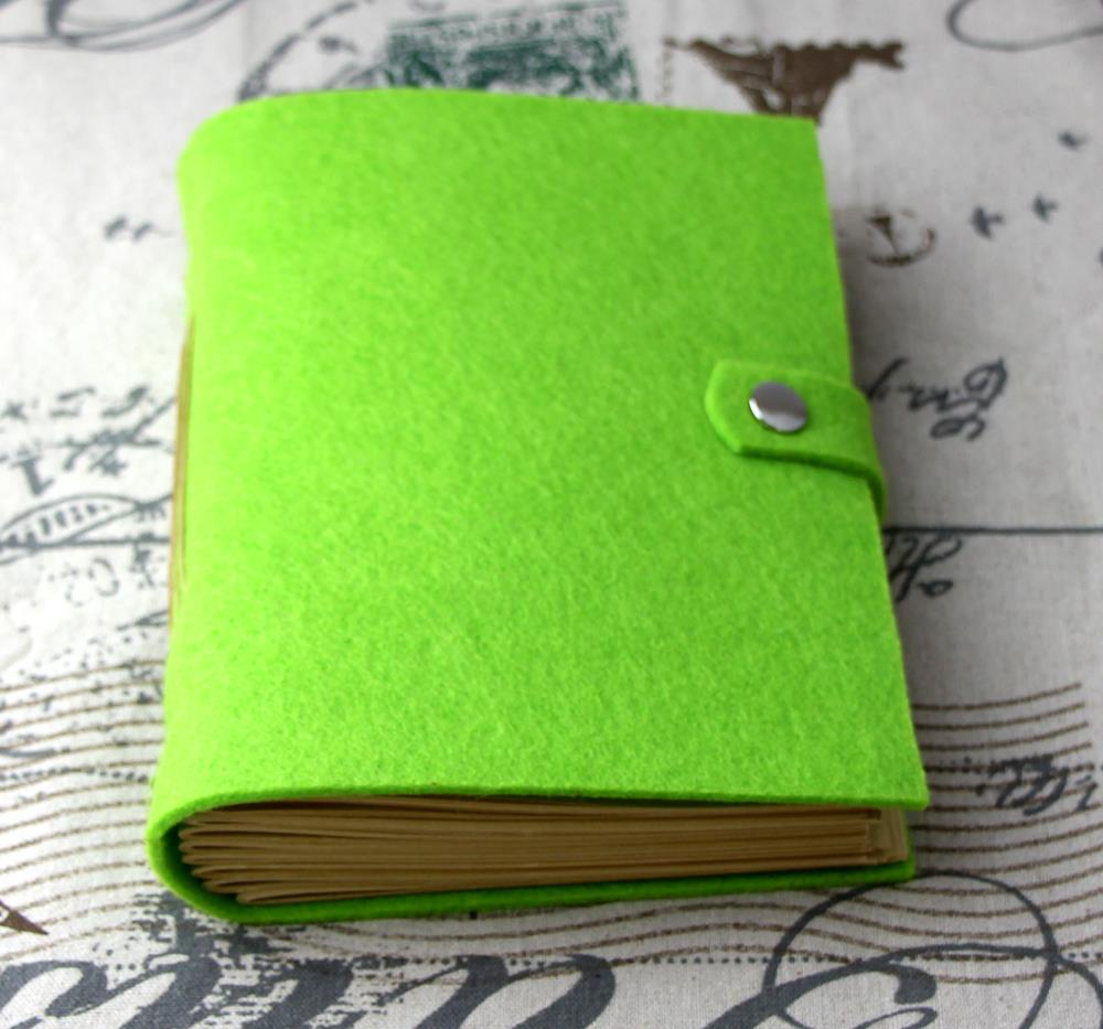 Passion handmade thick a5 Journals notebook green blank pages D0526(China (Mainland))