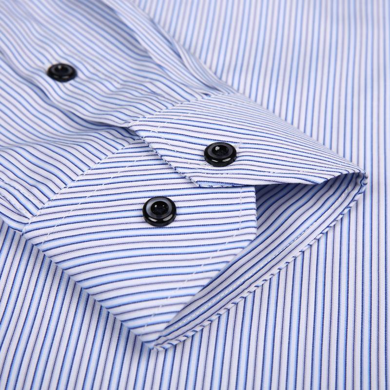 2015 Men Striped Shirts For Business Long Sleew Spring Autumn 019 Men Clothing Camisa Masculina