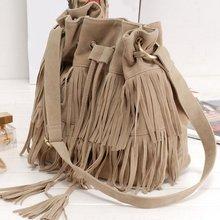 Women Faux Suede Fringe Tassel Shoulder Bag Handbags Messenger Bag New Arrival