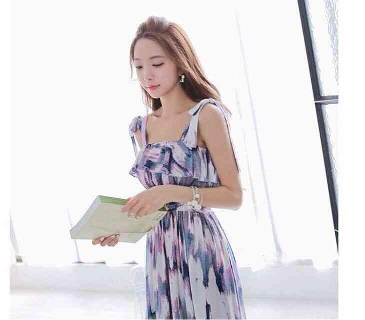 Free Shipping new Bohemian dream pop purple printed sundresses dress long 1435229353(China (Mainland))