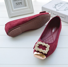 2014 all match Korean fashion flat shoes buckle shoes wholesale diamond network explosion 6688 suede