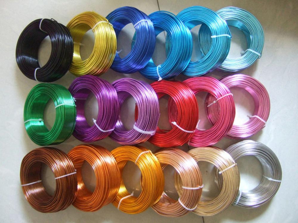 5 Meters/Roll van 2mm Aluminium Craft Bloemisterij Draad Voor Sieraden Kralen Maken(China (Mainland))