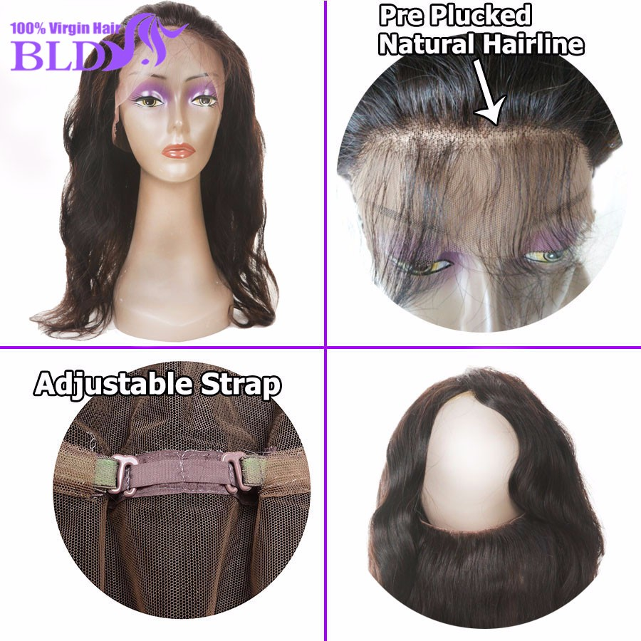 360 lace frontal with bundle brazilian virgin hair body wave with closure lace frontal closure with bundles 4 bundle