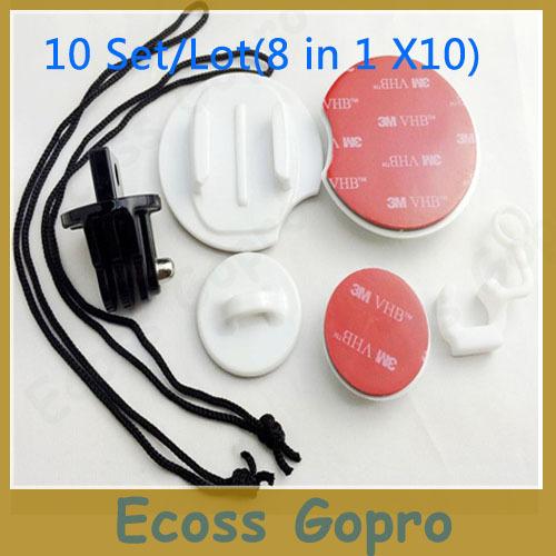 10Set/Lot  GoPro Surf HERO Expansion Kit Surfboard Mounts Kits for Gopro Hero3+ Hero3 Hero2 Hero1 Wholesale <br>