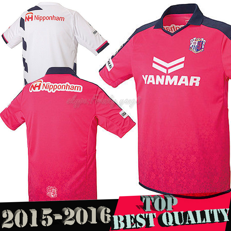 Tops Japan J league 2015 OSAKA CEREZO HOME PINK Thailand Quality 15 16 OSAKA CEREZO Soccer jersey football Shirt(China (Mainland))