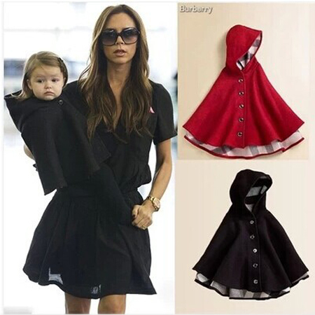 girl clothes cloak for autumn &amp; winter.Kids hooded cloak coat for 3-10y baby.Dark blue/red/cloth brand cloak for girl<br><br>Aliexpress