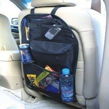 Only black Car Back Seat Tidy Organiser Auto Travel Storage Bag Multi-Pocket Holder Pouch