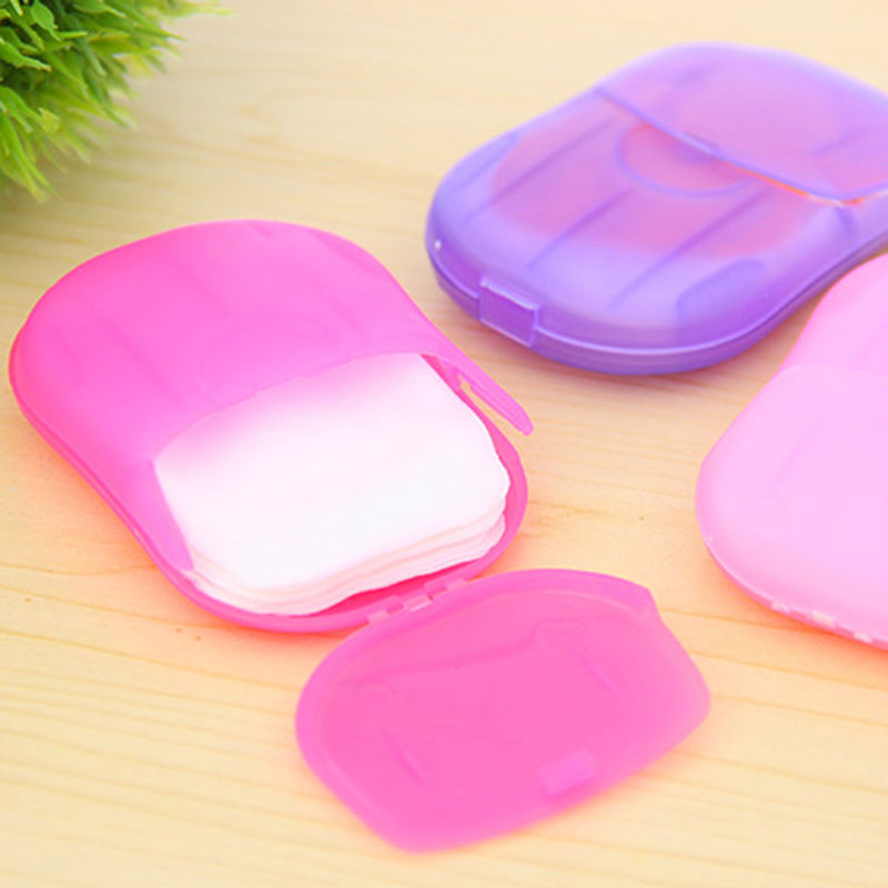 Гаджет  1 pc Washing Slice Sheets Hand Bath Travel Scented Foaming Box Paper Soap #1587 None Красота и здоровье