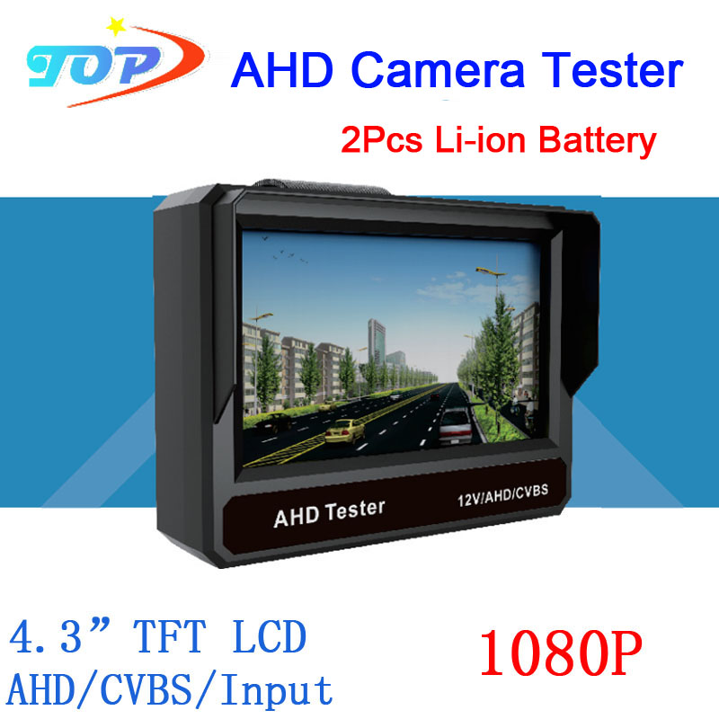 4.3 inch TFT LCD MONITOR COLOR Two in One1080P/ 960P/720P/ D1 AHD CCTV CAMERA TESTER Test Freeshipping(China (Mainland))