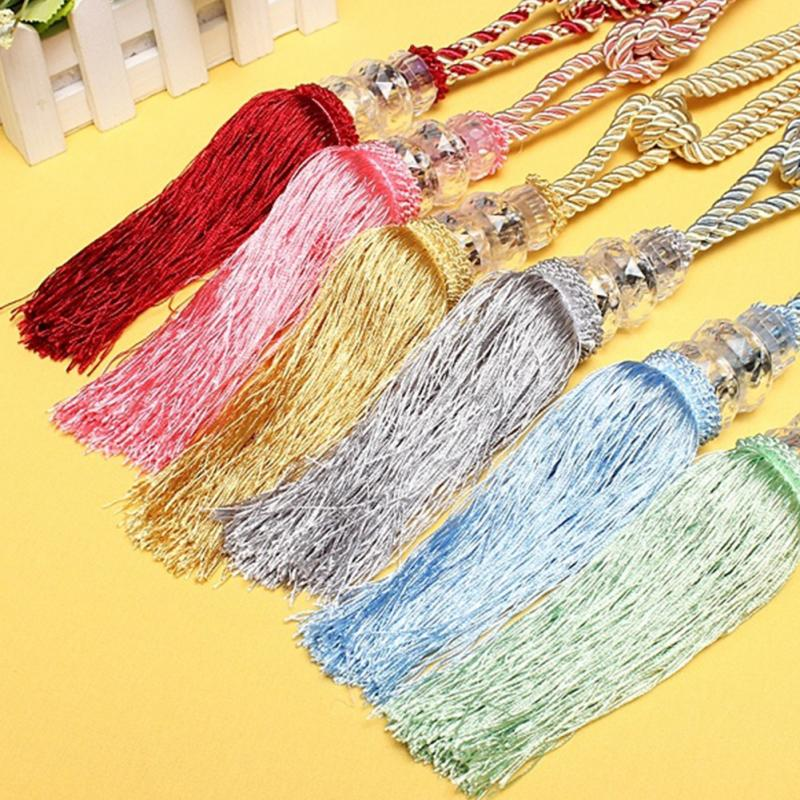Ball Beaded Tassel Tiebacks Holdback Home Window Curtain Tie Backs ...