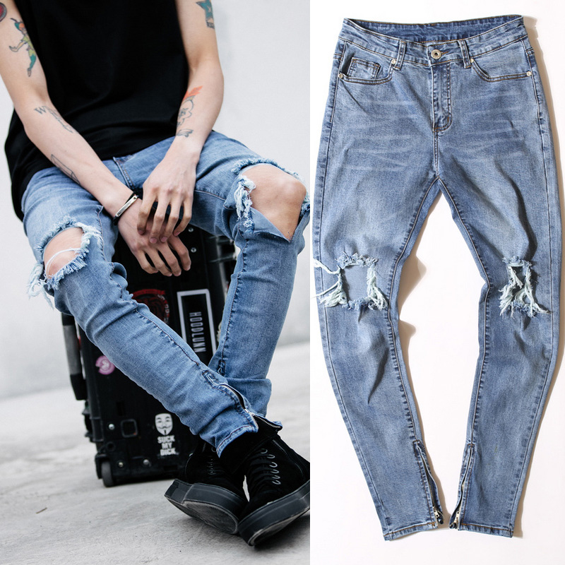 Online Buy Grosir broken hole jeans from China broken hole ...