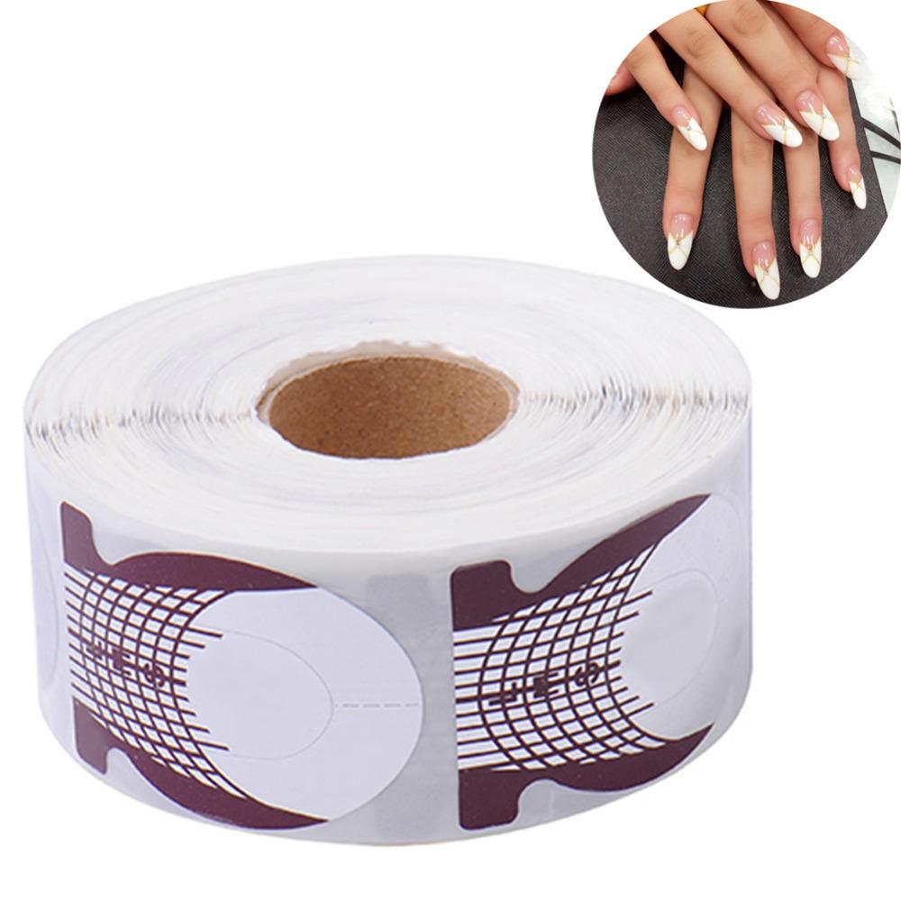 Professional 500pcs/roll Nail Art Extension Sticker Fish Shaped Guide Nail Form Acrylic Nail Polish Gel Nail Art Tool For Women