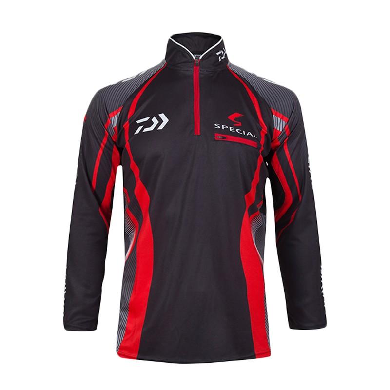 Brand fishing shirt outdoor sportswear Hiking fishing sun protection jersey Fishing Wear tackles Red white sports apparel(China (Mainland))