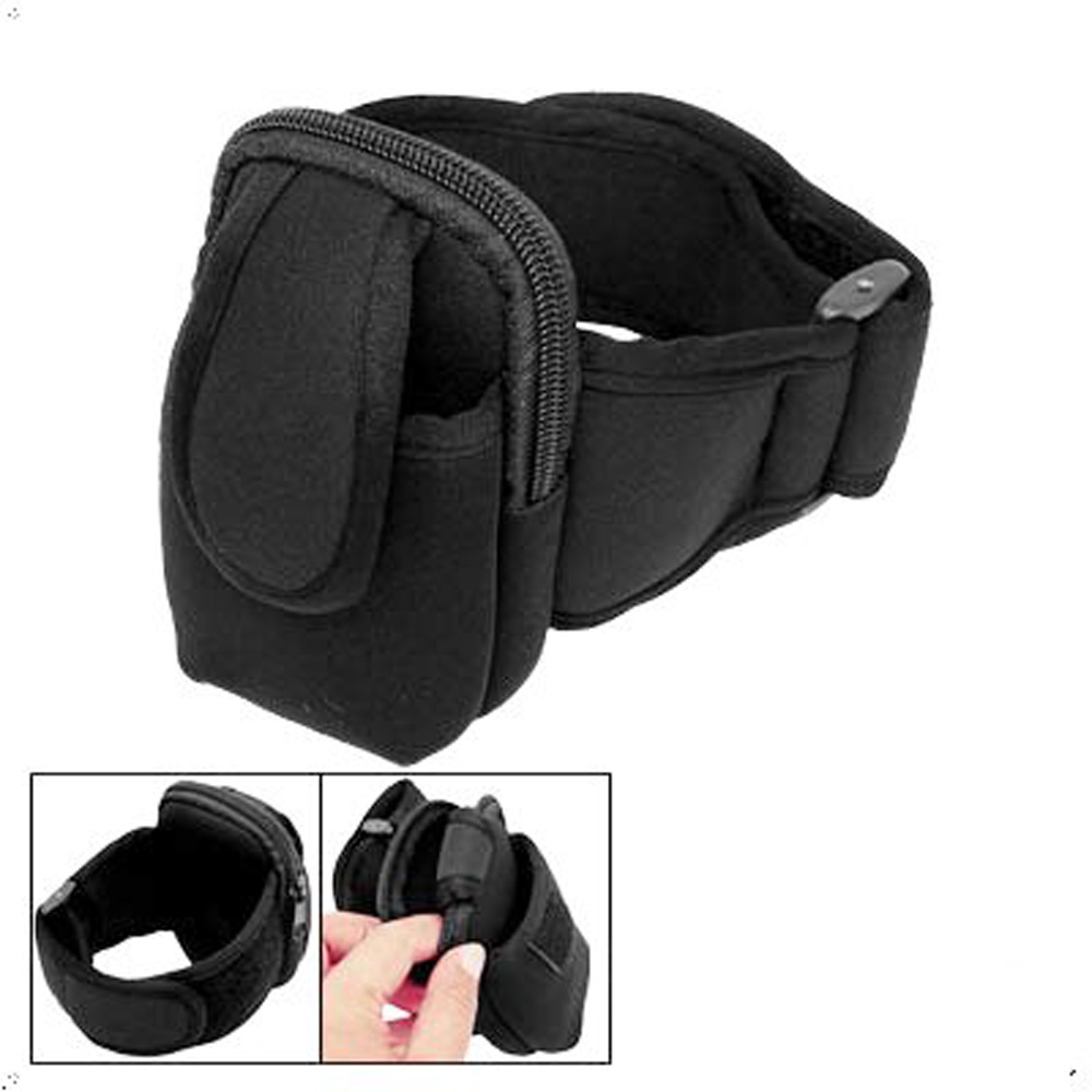 USA Stock! Sport Armband Case Holder Black for MP3 Cell Mobile Phone(China (Mainland))