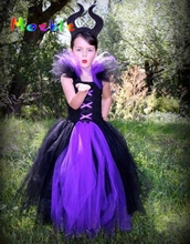 Buy Maleficent Evil Queen Girl Tutu Dress Children Halloween Cosplay Costume Dresses Kids Girl Party Photography Clothes Fancy Dress for $11.00 in AliExpress store