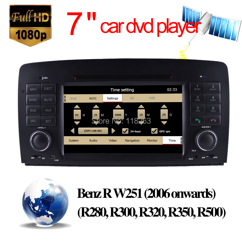 auto dvd Benz R W251 7'' Car DVD Player GPS Radio Bluetooth USB SD iPod Can bus car videos - Hualingan Technology Co., Ltd store