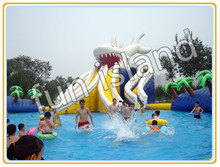 Large Octopus Inflatable Pool With Big Slide,Giant Inflatable Water Park For Kids,Inflatable Water Slide(China (Mainland))