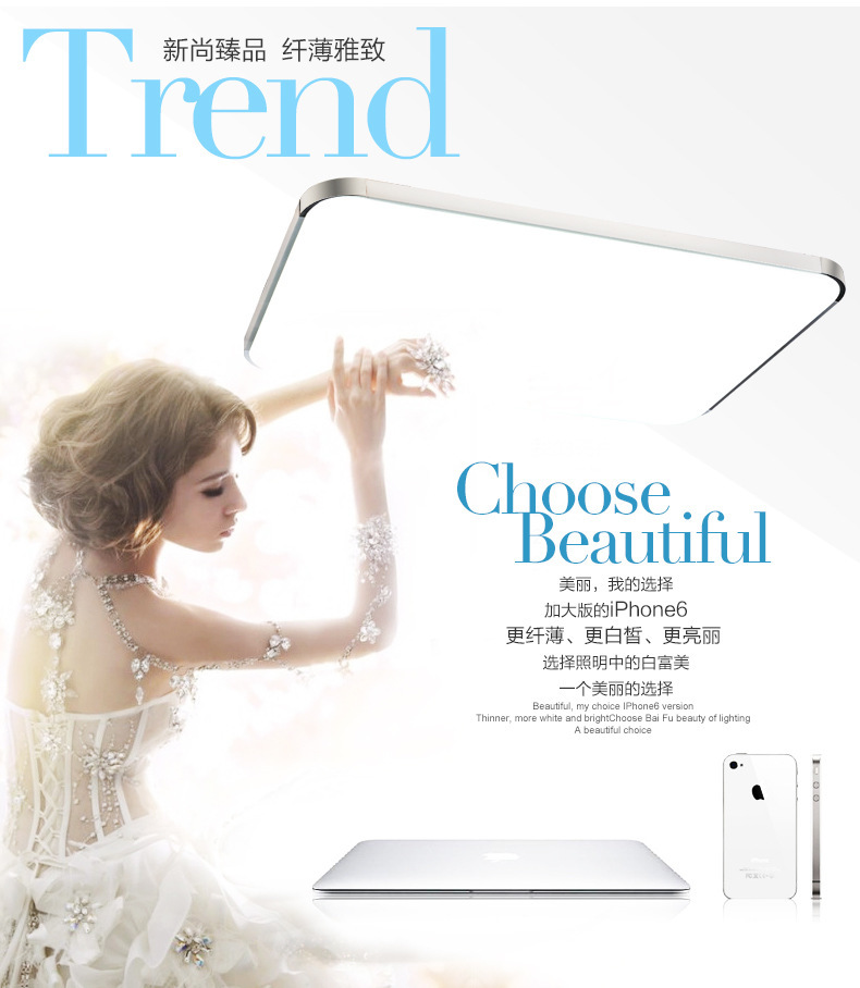 79% LED Apple Ceiling light Square 24W 30X30CM acrylic flush retro acrylic kitchen modern livingroom Bedroom abajur FreeShipping(China (Mainland))