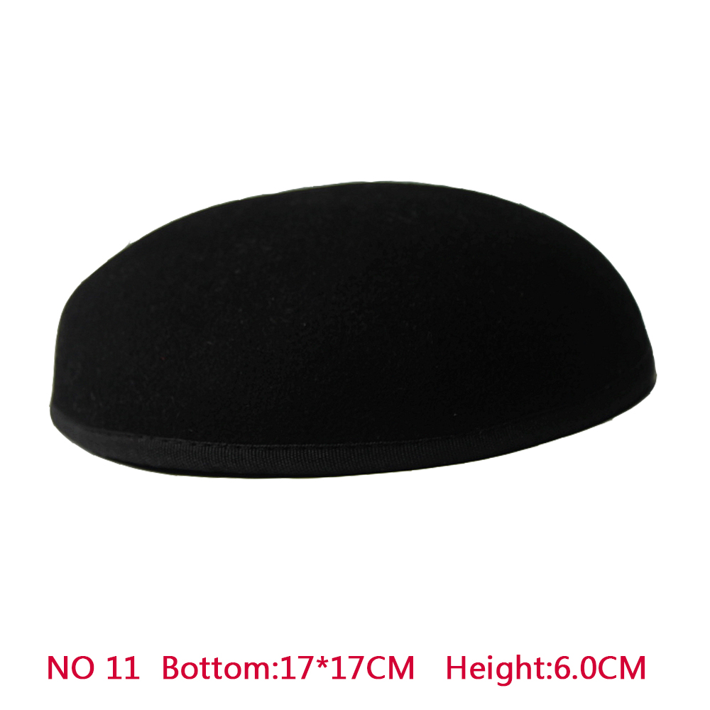 New Style 17*17 cm 100% Wool Anomalistic Fascinator Base Hat Millinery Form 10pcs/lot(China (Mainland))