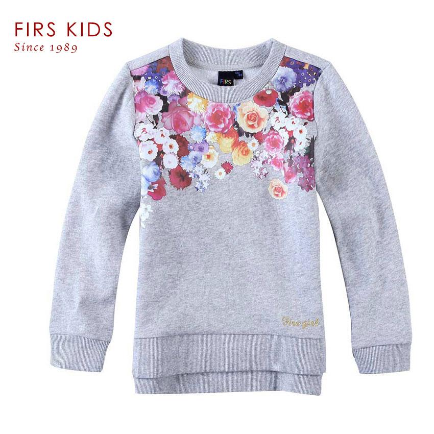 FIRS KIDS brand 2016 spring Autumn 100 cotton girls Clothes One set of printing head children