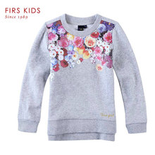 FIRS KIDS brand 2016 spring Autumn 100% cotton girls Clothes One set of printing head children coat Long sleeve girls sweatshirt